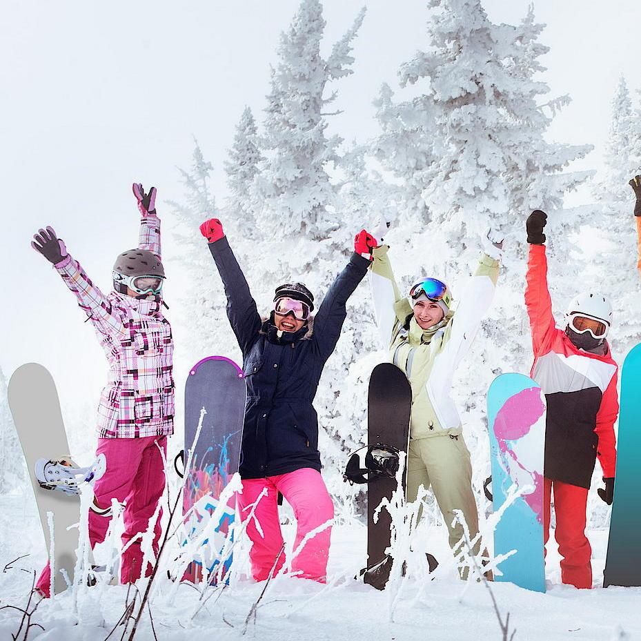 Snowboard Kurs Gruppe