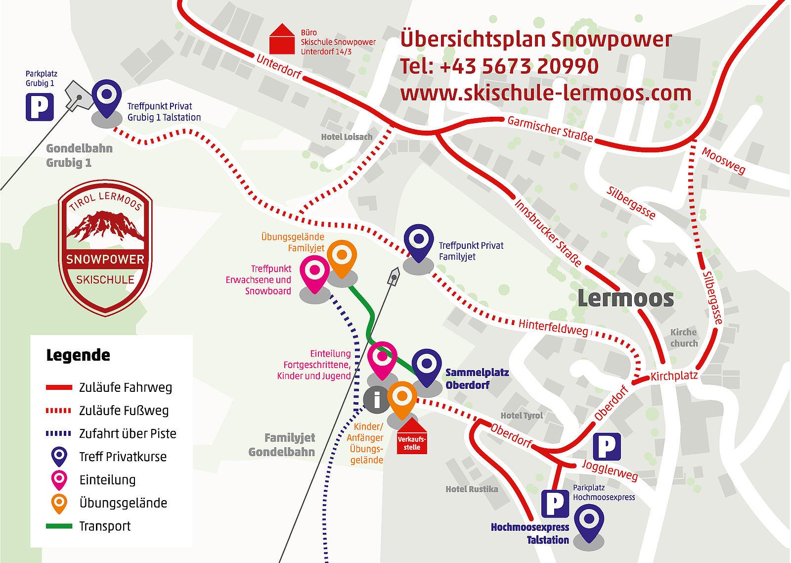 Skischule Lermoos Snowpower